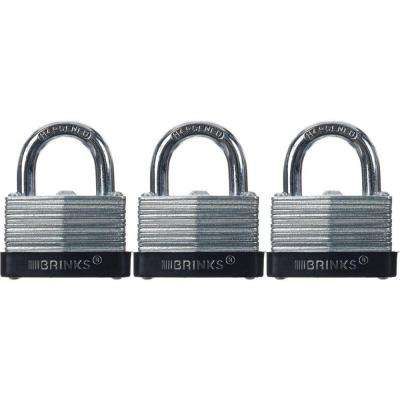 1-9/16 in. (40 mm) Laminated Steel Warded Lock (3-Pack)
