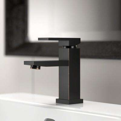 Single Hole Single-Handle Bathroom Faucet in Antique Bronze