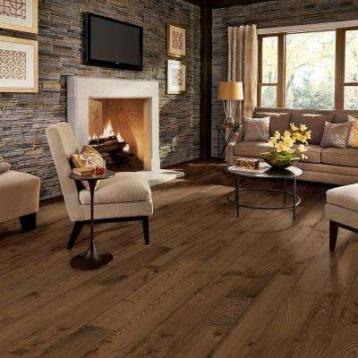 Country Brown White Ash 3/8 in. T x 6-1/2 in. W x Varying Length Engineered Hardwood Flooring (26 sq. ft.)