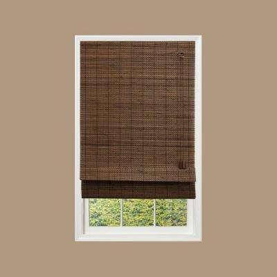 Espresso Fine Weave Bamboo Roman Shade