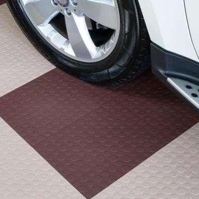 Brown - 12 in. x 12 in. Modular Interlocking Garage Floor Tiles (Set of 30)