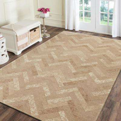 Jewel Natural 7 ft. 8 in. x 9 ft. 9 in. Rectangle Indoor Area Rug
