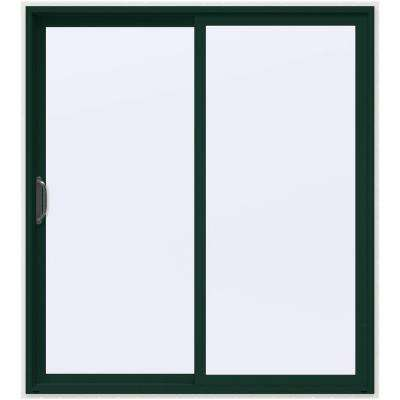 72 in. x 80 in. V-4500 Hartford Green Prehung Left-Hand Sliding 1-Lite Vinyl Patio Door with White Interior