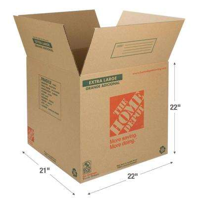 22 in. L x 21 in. W x 22 in. D Extra Large Box