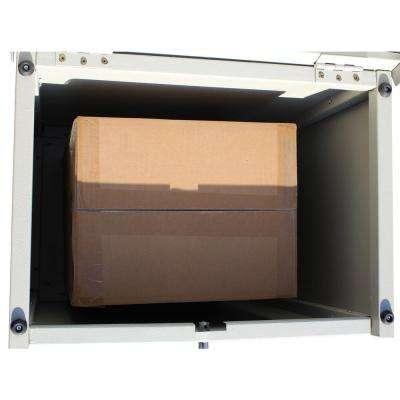 ParcelChest Textured Gray Ground Mount Locking Parcel Box