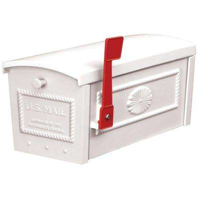 4500 Series Post Style Townhouse Mailbox in White