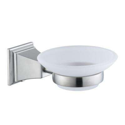 Pegasus Exhibit Wall-Mounted Soap Dish in Brushed Nickel