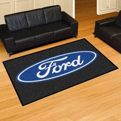 Ford - Black 8 ft. x 5 ft. Indoor Area Rug