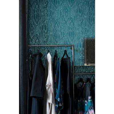 57.8 sq. ft. Salento Teal Abstract Wallpaper