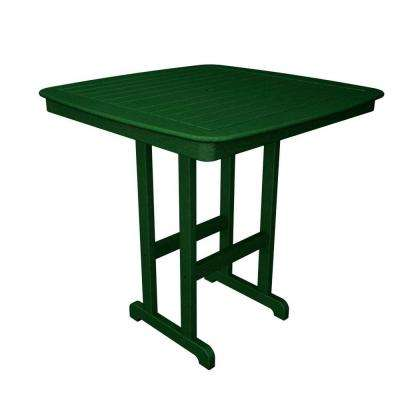 Nautical Green 44 in. Patio Bar Table