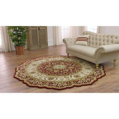 Masterpiece Red 8 ft. Round Area Rug