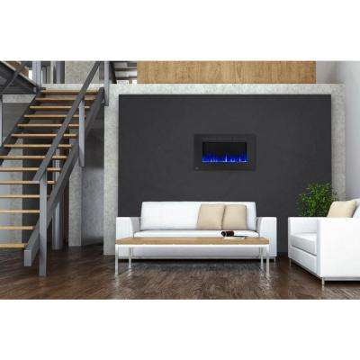42 in. Wall-Mount Linear Electric Fireplace in Black