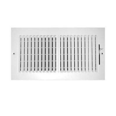 12 in. x 6 in. 2-Way Wall/Ceiling Register
