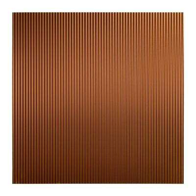 Rib - 2 ft. x 2 ft. Lay-in Ceiling Tile in Oil Rubbed Bronze