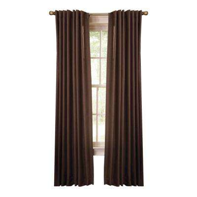 Tilled Soil Faux Silk Back Tab Curtain (Price Varies by Size)