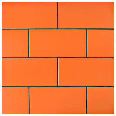Park Slope Subway Tangerine Orange 3 in. x 6 in. Ceramic Wall Tile (36 cases / 690.48 sq. ft. / pallet)