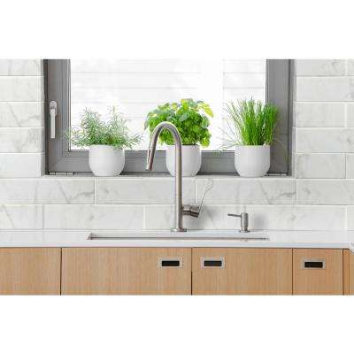Marmi Blanco White 4 in. x 16 in. Glazed Ceramic Wall Tile (11 sq. ft. / case)