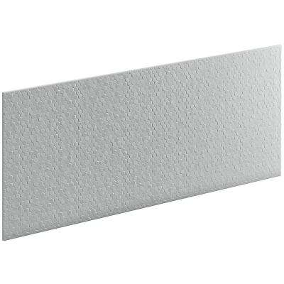 Choreograph 0.3125 in. x 60 in. x 28 in. 1-Piece Shower Wall Panel in Ice Grey with Hex Texture
