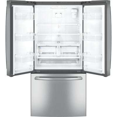 33 in. W 24.8 cu. ft. French Door Refrigerator in Stainless Steel with Icemaker