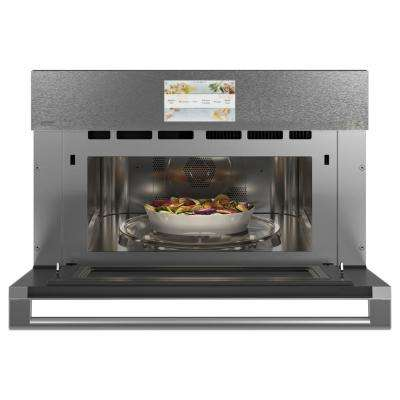 30 in. 1.7 cu. ft. Smart Electric Wall Oven and Microwave Combo with 120-Volt Advantium Technology in Platinum Glass