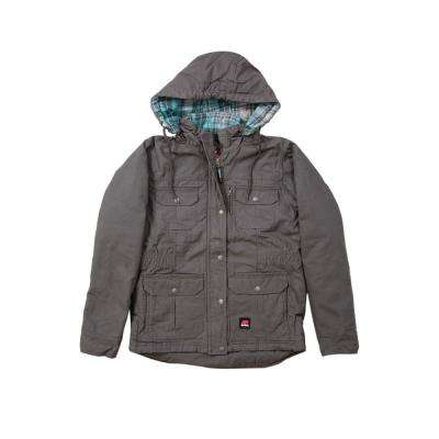 Women's Cotton Quilted Flannel Lined Washed Barn Coat