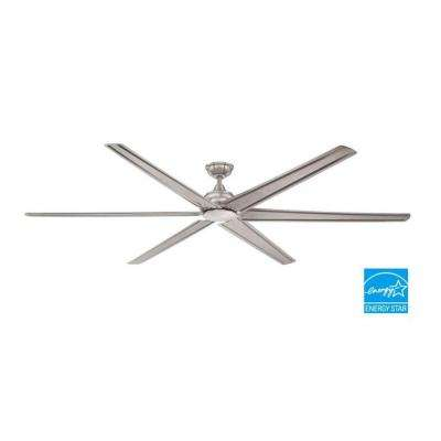 Fenceham 84 in. Brushed Nickel Ceiling Fan