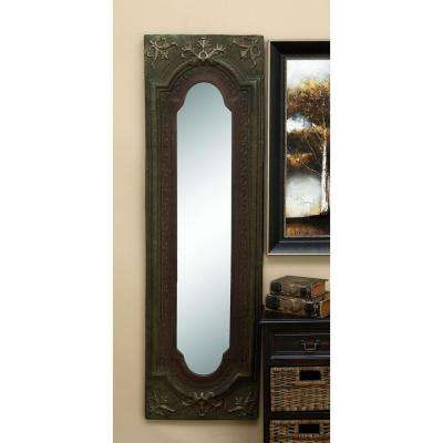 Old World 64 in. x 19 in. Scrollwork Framed Mirror