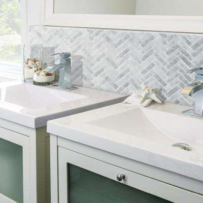 10.58 in. H x 9.72 in. W Peel and Stick Mosaic Decorative Wall Tile in Cortina Grigio