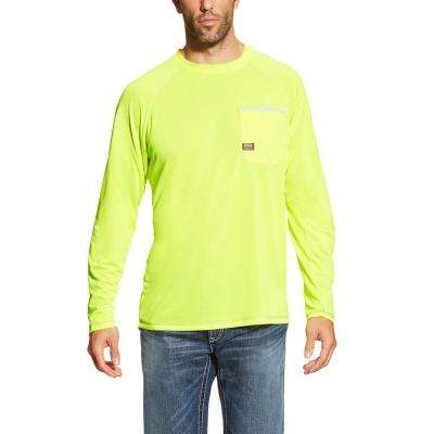 Men's Lime Rebar Sunstopper Long Sleeve Work Shirt