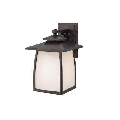 Wright House 1-Light Oil-Rubbed Bronze Outdoor Wall Lantern
