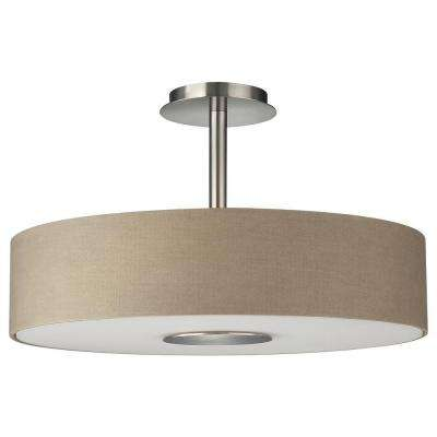 Dani 3-Light Matte Chrome Ceiling Fixture