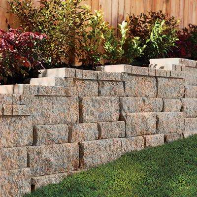 RockWall Small 4 in. x 11.75 in. x 6.75 in. Palomino Concrete Retaining Wall Block (144 Pieces/ 46.5 Sq. ft./ Pallet)