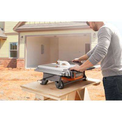 6.5 Amp Corded 7 in. Table Top Wet Tile Saw with Stand