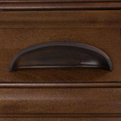 3 in. Center-to-Center Oil Rubbed Bronze Cup Bin Cabinet Pull (10-Pack)