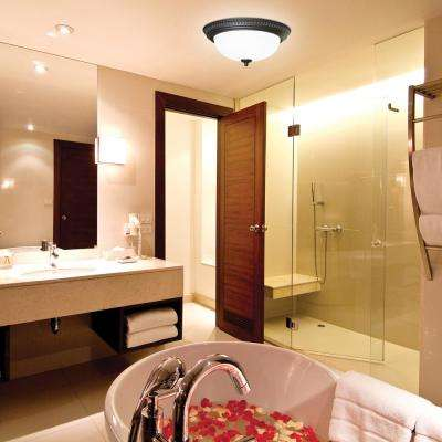 Decorative Bronze 70 CFM Ceiling Bathroom Exhaust Fan with Light