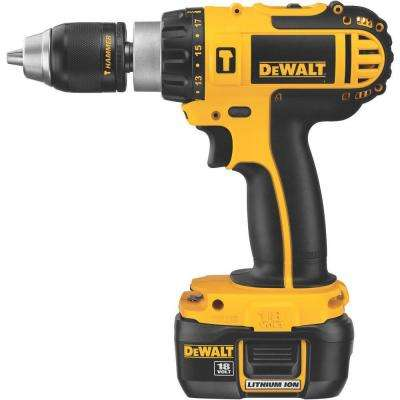 18-Volt Compact Lithium-Ion Cordless 1/2 in. Hammer Drill Kit