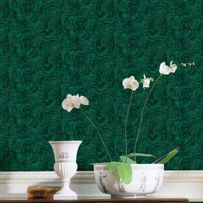 Green Malachite Stone Tile Wallpaper
