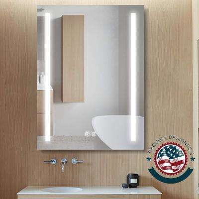 24 in. x 32 in. Frameless LED Lighted Bathroom Wall Mounted Frameless Mirror