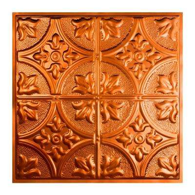 Jamestown 2 ft. x 2 ft. Lay-in Tin Ceiling Tile in Copper