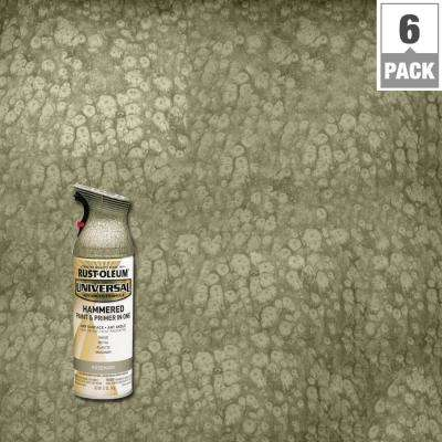 12 oz. All Surface Hammered Rosemary Spray Paint and primer in 1 (6-Pack)