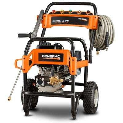 4,200 PSI 4.0 GPM OHV Engine Triplex Pump Gas Powered Pressure Washer