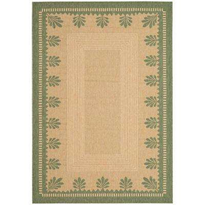 Sand/Green 5 ft. 3 in. x 7 ft. 7 in. Area Rug