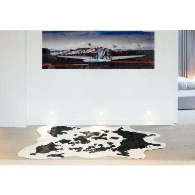 Faux Sugarland Black/White 5 ft. x 8 ft. Cowhide Rug