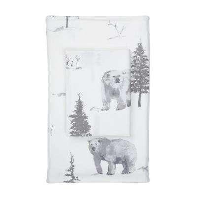 Bear Tracks Flannel Flat Sheet
