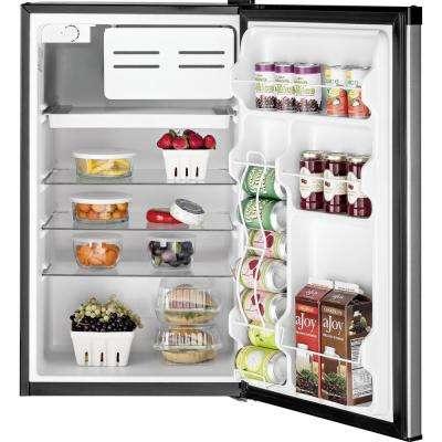 4.4 cu. ft. Mini Refrigerator in Clean Steel