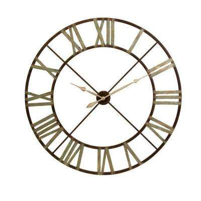Edward 48 in. H x 48 in. W Round Wall Clock
