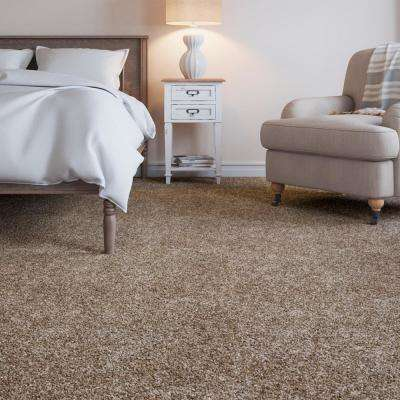 Gemini I-Color Tudor Brown Textured 12 ft. Carpet