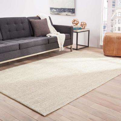 Natural White Asparagus 9 ft. x 12 ft. Solid Area Rug