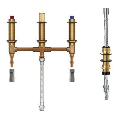4-Hole Roman Tub Fixed PEX/CPVC Rough-in Valve