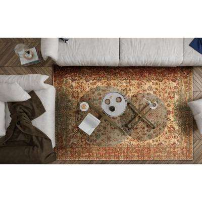 Cordoba Sand/Coral Traditions 3 ft. x 5 ft. Area Rug